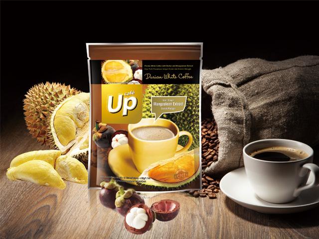 UP榴莲白咖啡